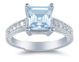 blue gemstones rings images March birthstone aquamarine jpg