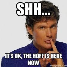 David Hasselhoff Meme - shh it s ok the hoff is here now david hasselhoff has a