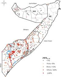 Map Of Somalia Mapping The Receptivity Of Malaria Risk To Plan The Future Of