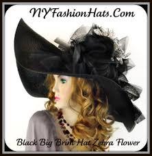 black white wide brim zebra church hat ladies designer hats re23