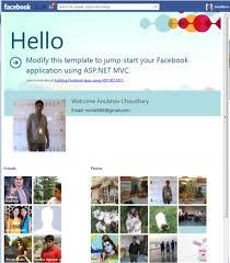 create facebook app using asp net mvc