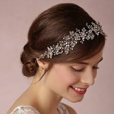 pearl headpiece silver rhinestone pearl headpieces wedding headband women hair