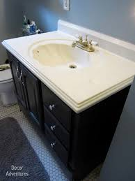 how to remove a countertop from a vanity bathroom misadventures