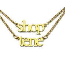 Name Chain Necklace 2 Layer Names Double Chain Necklace Personalizedperfectly