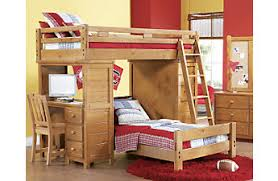 Desk With Bed by Bunk Loft Beds