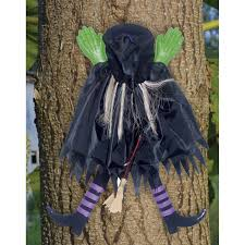tree trunk witch halloween décor