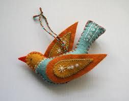 felt bird ornament felt birds bird ornaments and felting