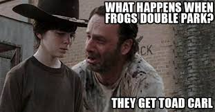 Twd Memes - the walking dead 23 of the funniest rick carl dad jokes smosh