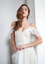 cold shoulder wedding dress boho wedding dress shoulder wedding dress hippie wedding