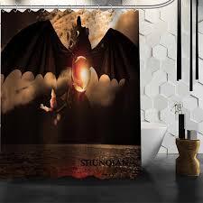 custom how to train your dragon shower curtain bathroom