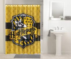 harry potter bathroom accessories hogwarts hufflepuff house crest harry potter 936 shower curtain