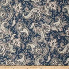 imperial paisley denim blue discount designer fabric fabric com