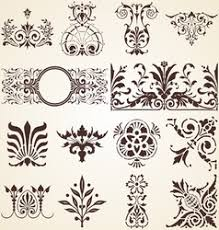 decorative ornaments design elements royalty free vector