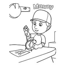 handy manny tools coloring pictures coloring pages ideas