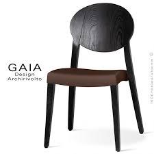 chaise wengé chaise de restaurant en bois gaia assise garnie de mousse