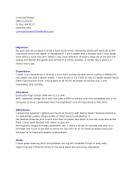Driver Resume Samples Free by Resume Truck Driver Resume Example