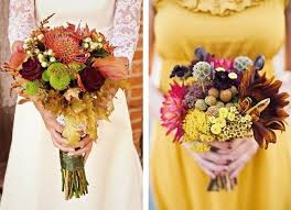 Autumn Wedding Flowers - 12 rustic autumn wedding bouquets to fall for