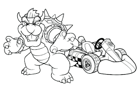 mario kart racing coloring pages pictures luigi colouring print
