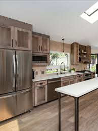 most popular kitchen cabinet stains stained cabinets calm mixed heights and lines