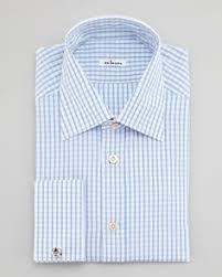striped barrel cuff dress shirt blue by charvet at bergdorf