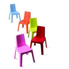 chaise de jardin enfant chaise pour enfants en résine injectée julieta panaché leroy merlin