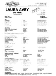 Official Resume Laura Avey Actress