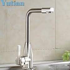 High Quality Kitchen Sinks 2018 High Quality Guarantee Brush Nickel Kitchen Sink Tap