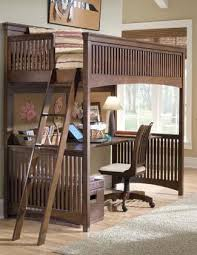 lea industries elite crossover twin size loft bed with desk