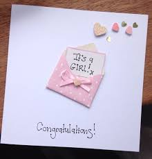 baby girl cards new born baby card girl or boy congratulations by byclaireelaine