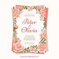wedding invitations freepik pretty roses wedding invitation vector free