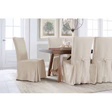 serta relaxed fit smooth suede furniture slipcover 2 pack dining