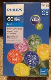 philips 60 sphere lights new philips 60 sphere multi led lights 19 6 ft lighted length