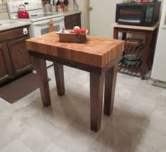 custom made butcher block kitchen island cart by mcclure tables