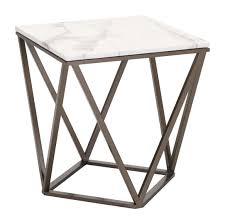 modern furniture end tables zuo modern tintern end table stone u0026 antique brass 100658