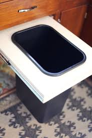 Trash Cans For Kitchen Cabinets Convert A Cabinet Into A Pull Out Trash Bin U2013 A Beautiful Mess