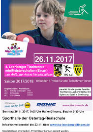 Click Tt Baden 26 11 2017 Minimeisterschaften Für Tt Anfänger Ttg Leonberg
