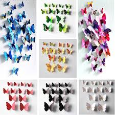 home decor 3d stickers 12x 3d butterfly wall decals removable sticker magnets art kids home