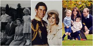 royal family cards through the years royals