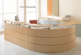 Tuohy Reception Desk Tuohy Geneva 8 5 X 7 Natural Maple Reception Desks With Leather