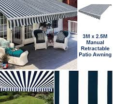 House Awnings Ireland 3m X 2 5m Blue U0026 White Stripe Patio Awning 3m X 2 5m Tivoli Blue