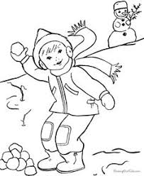 kids in winter activities coloring page ice skating