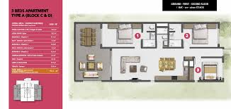 plan appartement 3 chambres achat appartement de luxe 443 000 ki resort apartments ile maurice
