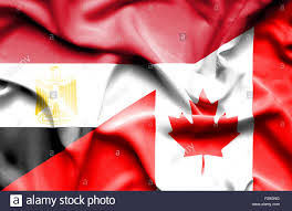 Image Of Flag Of Egypt Waving Flag Of Canada And Egypt Stock Photo Royalty Free Image