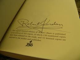 robert jordan images winter u0027s garden autographed limited book now