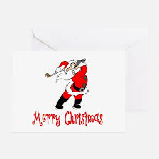 christmas golf greeting cards thank you cards and custom cards