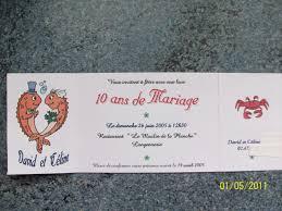 dix ans de mariage faire part 10 ans de mariage la carterie de céline