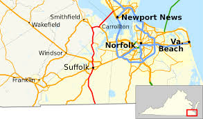 Map Of Virginia Beach Virginia State Route 32 Wikipedia