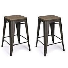 Metal Wood Chair Amazon Com Adeco 24