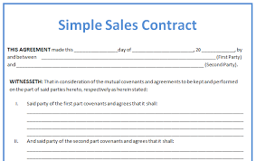 sample vehicle sales contracts