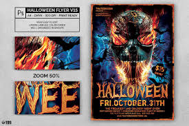 halloween flyer template psd v15 customizable with photoshop